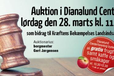 Dianalund Centret holder Auktion lørdag den 28. marts kl 10 som bidrag til Kræftens Bekæmpelses Landsindsamling
