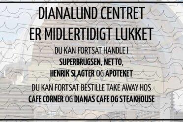 Dianalund centret holder midlertidigt lukket grundet Covid-19 og deraf regeringens anvisninger
